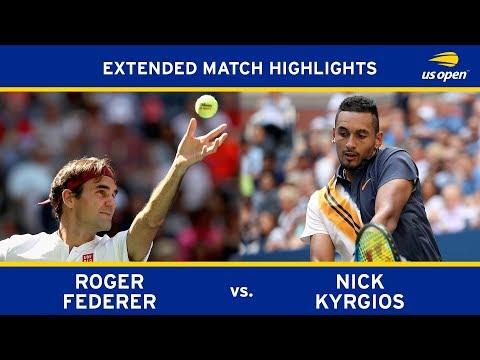 Extended Highlight Roger Federer vs. Nick Kyrgios 2018 US Open R3