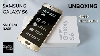 Samsung GALAXY S6 Gold Platinum - Unboxing