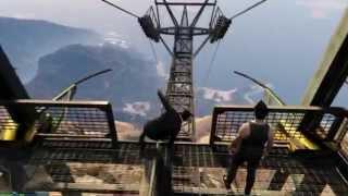 GTA V PC - Pulando do Monte Chiliad de paraquedas e avião afundado