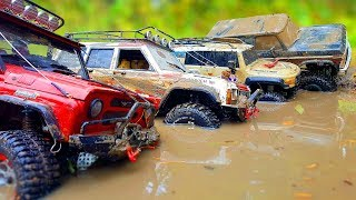 RC Trucks MUD Action Extreme OFF Road — UAZ 469 Hunter, Jeep Cherokee, FJ Cruiser — Wilimovich