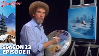 Bob Ross - Frozen Beauty in Vignette (Season 23 Episode 11)