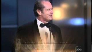 "Jack Nicholson winning an Oscar® for ""As Good as it Gets"""