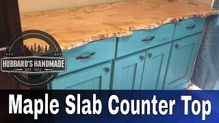 Maple Slab Cabinet Counter Top (part 1)