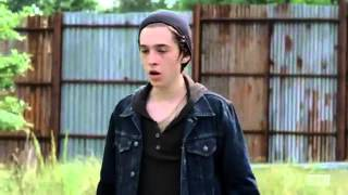 The Walking Dead s06e02  JSS    Carl kills one of The Wolves and saves Ron   YouTube