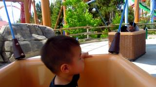 Ian sitting by himself on the Hot Air Balloon ride at Knott's 6-11-12