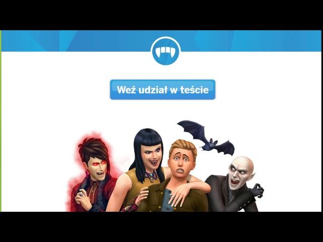 The sims 4 - Jakim jesteś wampirem ? Test :P