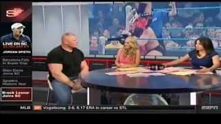 Brock Lesnar on Ronda Rousey