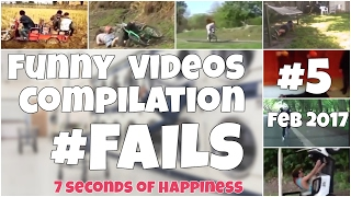 60 seconds compilation of fails #5 Feb 2017 by 7 seconds happiness FUNNY Video 😂