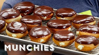 Homemade Boston Cream Donuts - The Cooking Show