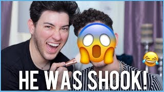 My Straight SINGLE Little Brother Gets a GLAM MAKEOVER!