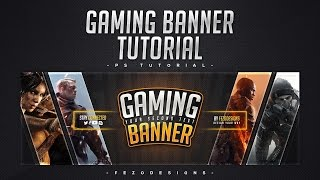 Free Ultimate Gaming YouTube Banner Template! +Tutorial | Daikhlo.us