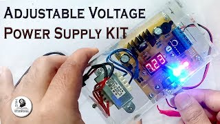 How to make Adjustable Voltage Power Supply with LM317 KIT DIY