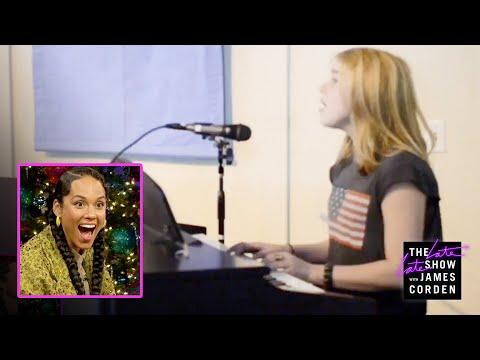Billie Eilish Surprises Alicia Keys w a Home Video Fallin Cover