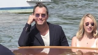 Jude Law, Ludivine Sagnier and more arriving at the Venice Film Festival 2016 by boat