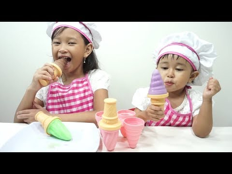 Mainan Anak Ice Cream POPS Maker 💖 Cara Mudah Membuat Es Krim POPS Susu Enak 💖 Let's Play
