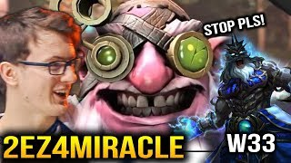 Miracle- Sniper VS W33 Zeus - Not a Hard Game Dota 2