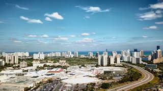 The Drone View from Aventura, Florida (4K)