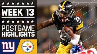 Giants vs. Steelers   NFL Week 13 Game Highlights