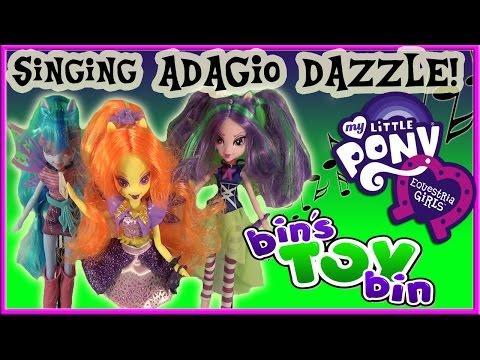Xxx Mp4 Equestria Girls Singing ADAGIO DAZZLE My Little Pony Doll Review By Bin S Toy Bin 3gp Sex