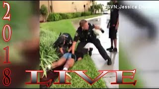 Police Punches 14 yr Old in The Gut in Coral Springs Fl (Live)