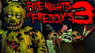 Five Nights at Freddy's 3 Springtrap Scare NIGHT 1 NIGHT 2 Horror PART 1 Blind Gameplay Walkthrough