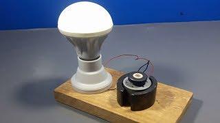 free energy self running generator using Light Bulb Simple diy project 2018