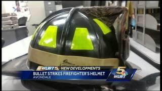 Object that struck firefighter
