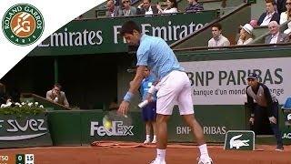 Novak Djokovic v Jo-Wilfried Tsonga Highlights - Men's Round 4 2014 - Roland Garros
