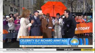 Richard Armitage on the Today Show December 12, 2016
