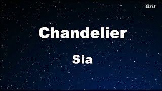 Chandelier - Sia Karaoke 【With Guide Melody】 Instrumental