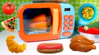 Just Like Home Microwave Oven Toy IKEA Kitchen Set Cooking Playset Toy Food Toy Cutting Food