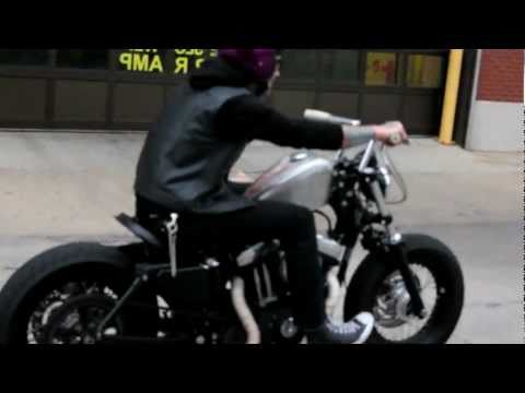 Suicide Harley Davidson Sportster 48 Downtown Chicago