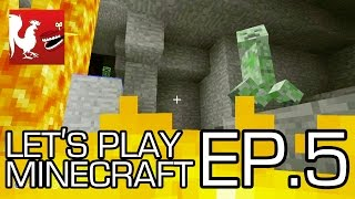 Let's Play Minecraft - Episode 5 - The Hunt for Diamonds   Rooster Teeth