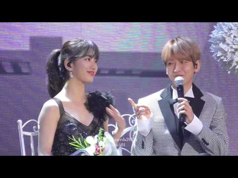 100113 baekhyun & suzy Golden Disc awards2017