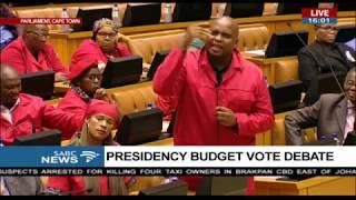 Julius Malema debates the Presidency budget vote