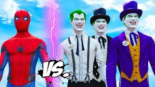 SPIDERMAN VS JOKER TEAM - EPIC BATTLE