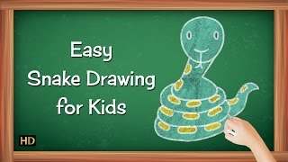 How to Draw Snake Step By Step for Kids | Learning Videos for Children | Shemaroo Kids