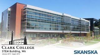 Clark College STEM Building Construction Time-Lapse
