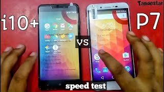 Symphony i10+ VS Symphony P7 speed test comparison