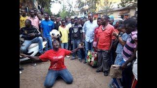 Kigali: Umugore yahuruje imbaga kubera udukoryo n