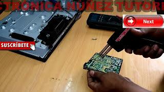 repair  tv LG LED, que no enciende, equipo muerto fallas comunes( video 1)