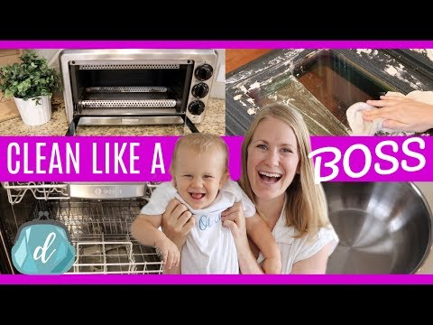 KITCHEN CLEANING MOTIVATION 💜 How to clean appliances like a boss!