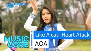 [Special stage] AOA - Like A cat + Heart Attack, 에이오에이 - 사뿐사뿐 + 심쿵해 Show Music core 20160416