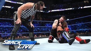 Styles vs. Owens - U.S. Title Match w/ Special Guest Ref Baron Corbin: SmackDown LIVE, Aug. 22, 2017