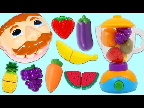 Xxx Mp4 Feeding Mr Play Doh Head Toy Velcro Cutting Fruits And Vegetables Smoothie 3gp Sex