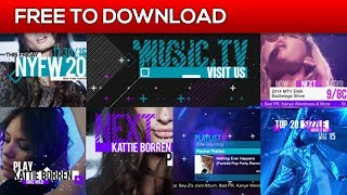 Music and Entertainment TV Broadcast Pack | After Effects Template | Free Download