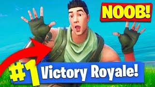 Pretending To Be A *NOOB* in Fortnite: Battle Royale! (Easiest Kills Ever They thought I Was Trash!)