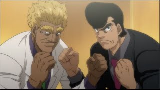 TAKAMURA AND HAWK FIGHT AT PRESS CONFERENCE! (Eng Sub) - Hajime no Ippo Ep. 19
