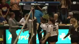 2017 American Digital Network Volleyball Highlights - UCF 3, USF 0