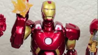The Avengers Sci-Fi Revoltech Mark VII Iron Man Action Figure Review